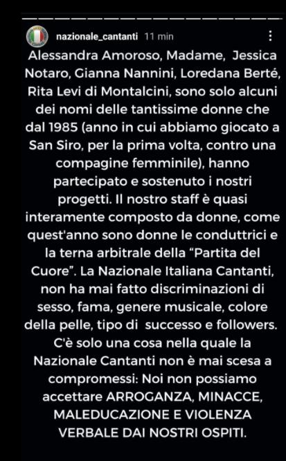 comunicato nazionale cantanti